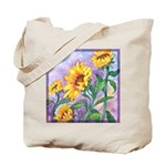 Sunny Sunflowers Watercolor Tote Bag