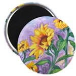 Sunny Sunflowers Watercolor Magnet