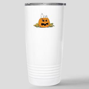 Pumpkin Patch Lounger Stainless Steel Travel Mug