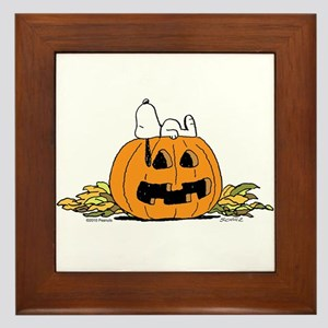 Pumpkin Patch Lounger Framed Tile