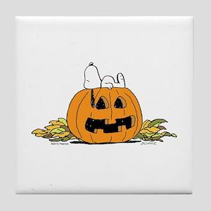 Pumpkin Patch Lounger Tile Coaster