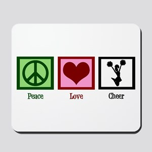 Peace Love Cheer Mousepad