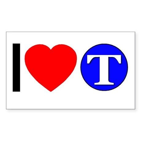 DOT ARTS Custom Monograms Sticker (Rectangle 50 pk