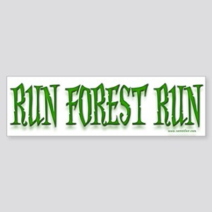 Run Forrest Run! Bumper Sticker