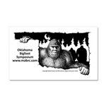 Oklahoma Bigfoot Symposium Logo Car Magnet 20 X 12