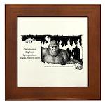 Oklahoma Bigfoot Symposium Logo Framed Tile