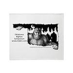 Oklahoma Bigfoot Symposium Logo Throw Blanket