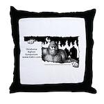 Oklahoma Bigfoot Symposium Logo Throw Pillow