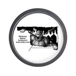 Oklahoma Bigfoot Symposium Logo Wall Clock