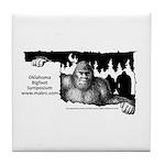 Oklahoma Bigfoot Symposium Logo Tile Coaster