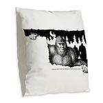 Oklahoma Bigfoot Symposium Burlap Throw Pillow
