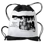 Oklahoma Bigfoot Symposium Logo Drawstring Bag