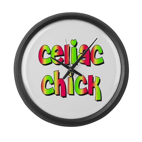 Celiac Chicks Large Wall Clock