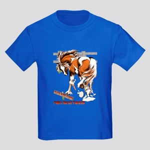 Plays With Paints Kids Dark T-Shirt