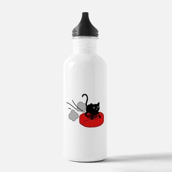 Kitten Riding Robot Vacuum Water Bottle