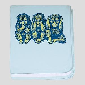 See Hear Speak No Evil Monkey Infant Blanket