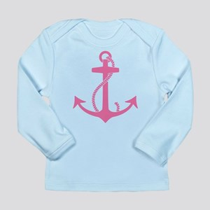 Pink Anchor Long Sleeve Infant T-Shirt