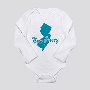 State New Jersey Long Sleeve Infant Bodysuit