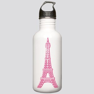 Pink Eiffel Tower Stainless Water Bottle 1.0L