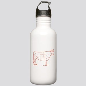 Retro Beef Cut Chart Stainless Water Bottle 1.0L