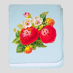 Retro Strawberry Infant Blanket