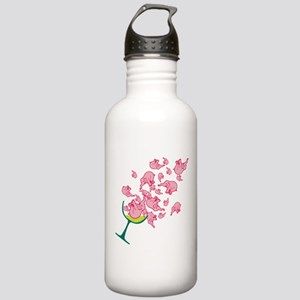 Glass of Pink Elephants Stainless Water Bottle 1.0