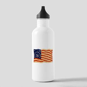 Retro 1776 American Flag Stainless Water Bottle 1.
