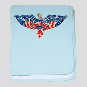 Retro Eagle and USA Flag Infant Blanket