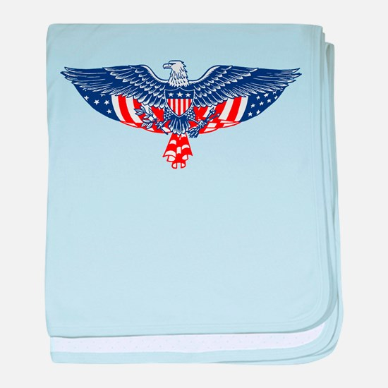 Eagle and American Flag Infant Blanket