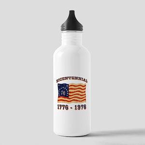 Retro 1776-1976 Flag Stainless Water Bottle 1.0L