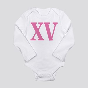 Quince Anos XV Long Sleeve Infant Bodysuit