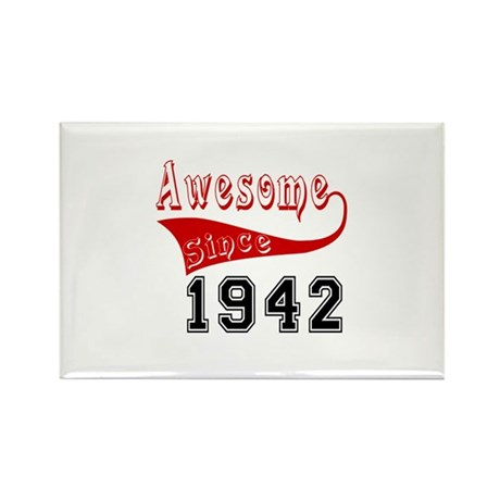Awesome Since 1942 Bir Rectangle Magnet (100 pack)