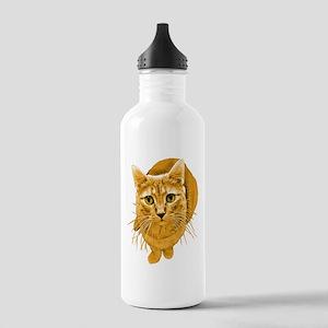 Orange Cat Stainless Water Bottle 1.0L