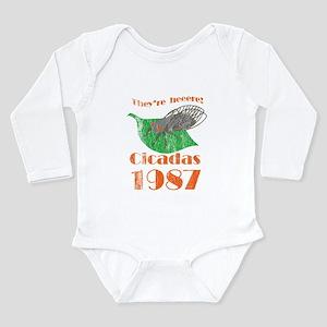 Retro Cicadas 1987 Long Sleeve Infant Bodysuit