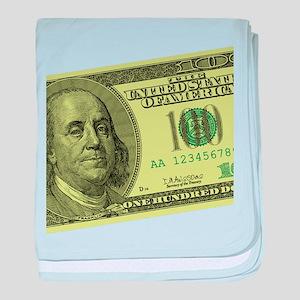 Hundred Dollar Bill Infant Blanket