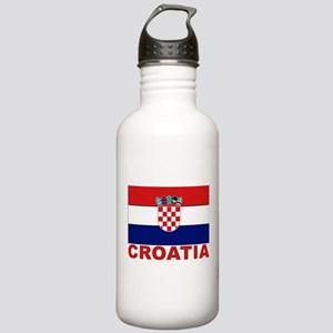 Croatia Flag Stainless Water Bottle 1.0L