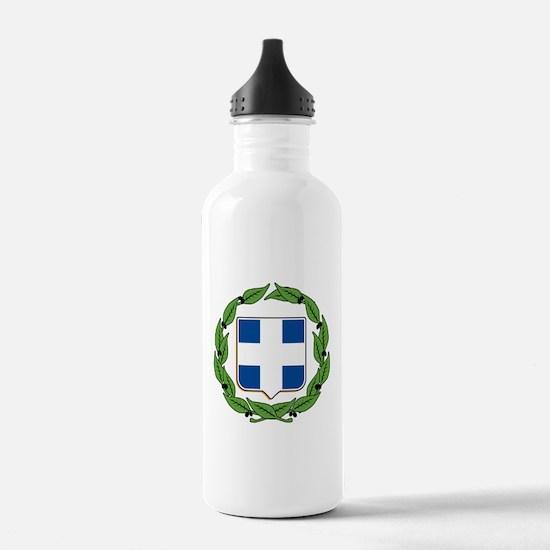 Greek Coat of Arms Sports Water Bottle