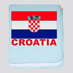 Croatia Flag Infant Blanket