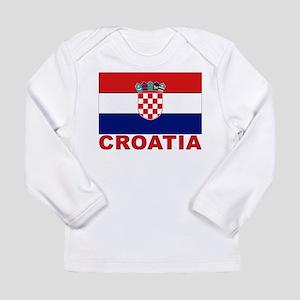 Croatia Flag Long Sleeve Infant T-Shirt
