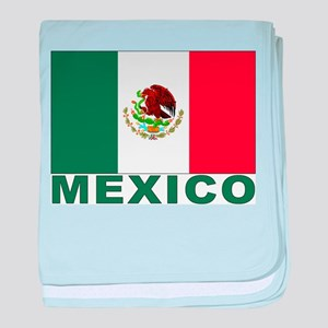 Mexico Flag Infant Blanket