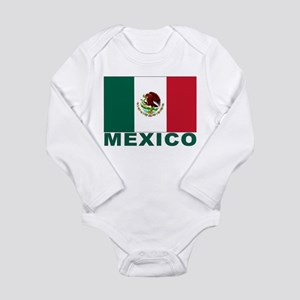 Mexico Flag Long Sleeve Infant Bodysuit