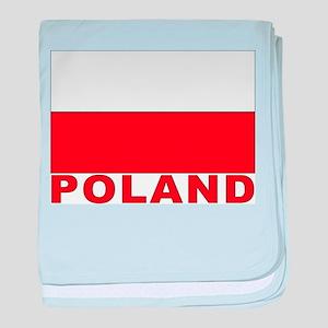 Poland Flag Infant Blanket