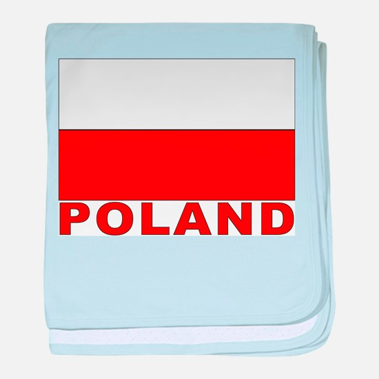 Poland Flag Infant Blanket