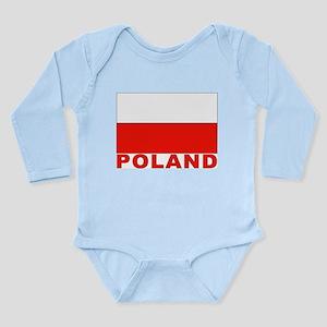 Poland Flag Long Sleeve Infant Bodysuit