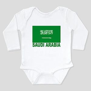 Saudi Arabia Flag Long Sleeve Infant Bodysuit