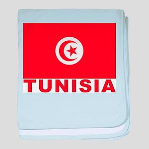 Tunisia Flag Infant Blanket