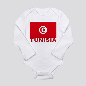 Tunisia Flag Long Sleeve Infant Bodysuit