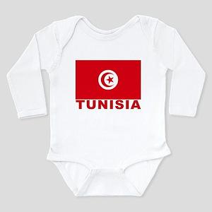 Tunisia Flag Long Sleeve Infant Bodysuit