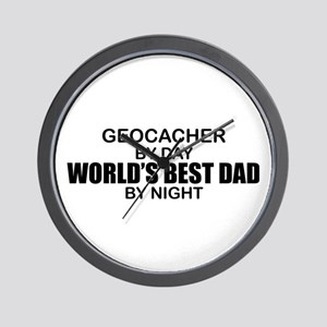 World's Greatest Dad - Geocacher Wall Clock