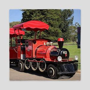 Red Tourist Train Queen Duvet